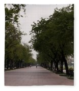 Park Leading To The King Of Thailands Palace Fleece Blanket