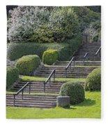 Park Stairs Fleece Blanket