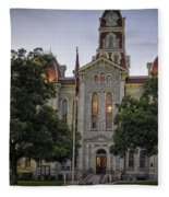 Parker County Courthouse Fleece Blanket