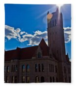 Parkersburg Courthouse Fleece Blanket