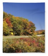 Parkway Road In North Carolina Fleece Blanket
