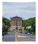 Parkway View Of The Museum Of Art Fleece Blanket