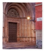Parma Baptistery Doorway Fleece Blanket