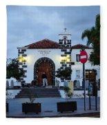 Parraquia De San Amaro. Puerto De La Cruz By Night Fleece Blanket