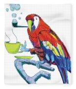 Parrot Cartoon Fleece Blanket