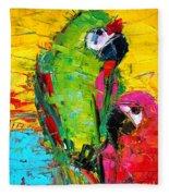 Parrot Lovers Fleece Blanket
