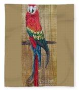 Parrot - Scarlet Macaw Fleece Blanket