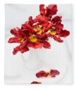 Parrot Tulips In A Milk Jug Fleece Blanket