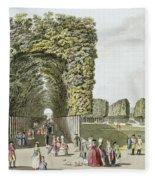 Part Of The Garden At Ausgarten Fleece Blanket