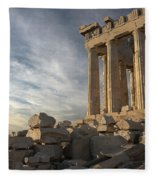 Parthenon From The South Fleece Blanket