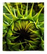 Partial Eclipse Of The Sunflower Fleece Blanket