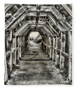 Partington Cove Tunnel By Diana Sainz Fleece Blanket
