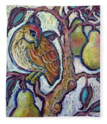 Partridge In A Pear Tree 1 Fleece Blanket