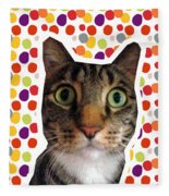 Party Animal - Smaller Cat With Confetti Fleece Blanket