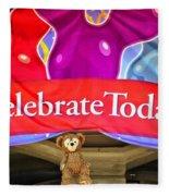 Party Bear Fleece Blanket