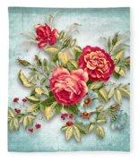 Party Of Flowers  Fleece Blanket