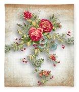 Party Of Roses  Fleece Blanket
