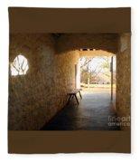Passageway At Monticello Fleece Blanket
