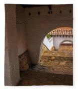 Passageway In Colonial Town Fleece Blanket