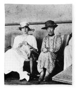 Passengers On Ship, 1912 Fleece Blanket