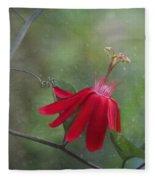 Passiflora Flower Fleece Blanket