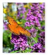 Passion Butterfly Fleece Blanket