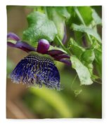 Passion Flower - Ruby Glow Fleece Blanket