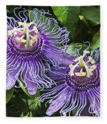 Passion Flowers Fleece Blanket