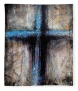 Passion Of The Cross Fleece Blanket