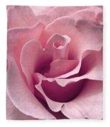 Passion Pink Rose Flower Fleece Blanket