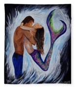 Passionate Mermaid Fleece Blanket