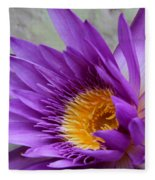 Passionate Purple Water Lily Fleece Blanket