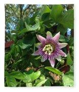 Passion Flower 3 Fleece Blanket