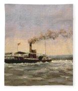 Past On The Medway Fleece Blanket