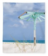Pastel Beach Frame Fleece Blanket