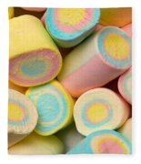 Pastel Colored Marshmallows Fleece Blanket