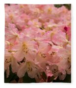 Pastel Coral Azaleas Refreshed By The Rains Fleece Blanket