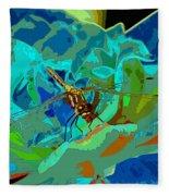 Pastel Dragonfly Rose Fleece Blanket