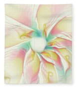 Pastel Flower Fleece Blanket