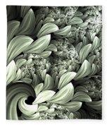 Pastel Garden Abstract Fleece Blanket