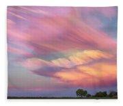 Pastel Painted Sunset Sky Fleece Blanket