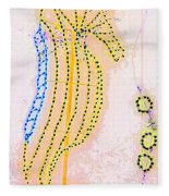 Pastel Seahorse In Lights  Fleece Blanket