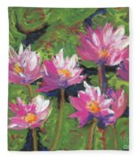 Pastel Water Lilies I  Fleece Blanket