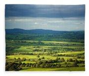 Pastoral Fields, Near Clonea, County Fleece Blanket