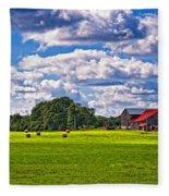 Pastoral Ontario Fleece Blanket