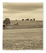 Pastoral Pennsylvania Sepia Fleece Blanket
