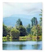 Pastoral Pond And Valley Fleece Blanket