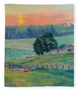 Pastoral Sunset Fleece Blanket
