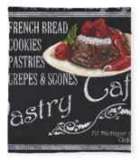Pastry Cafe Fleece Blanket