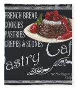 Pastry Cafe Fleece Blanket
